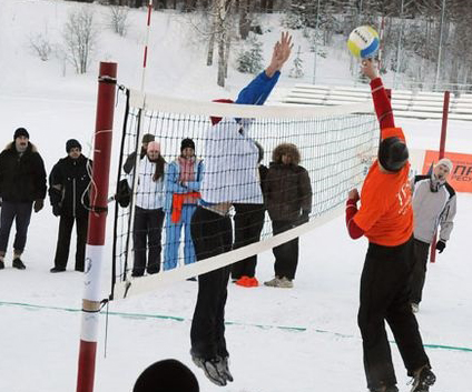 Турнир по волейболу на снегу Snow Volley Christmas - 2017
